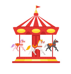 Carousel icon for web vector