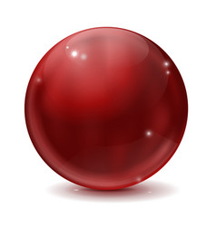 cherry red glass ball vector image
