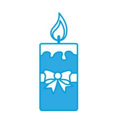 christmas candle icon vector image