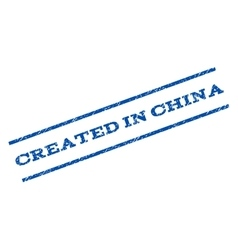 Created in china watermark stamp vector