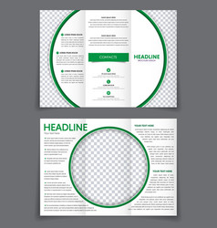 Design triple flyer with space for photo in the vector