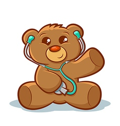 Doctor Teddy Bear vector image