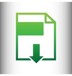 File download sign vector