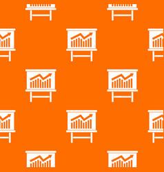 Growing chart presentation pattern seamless vector