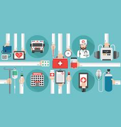 Healthcaremedical online concept design flat vector