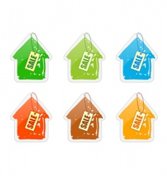 house with price list vector image vector image