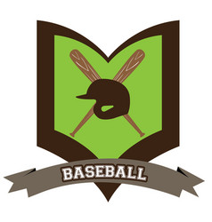 Isolated baseball emblem vector