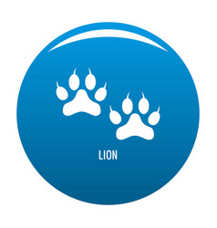 lion step icon blue vector image