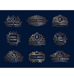 Luxury Labels Design Set vector image