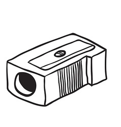 simple black and white pencil sharpener vector image