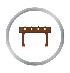 Table football icon in pattern vector