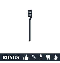 Toothbrush icon flat vector image vector image