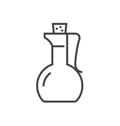 vinegardsauce line icon sign vector image