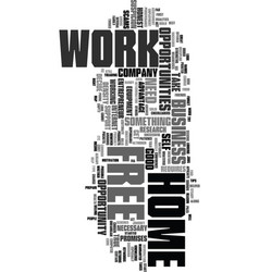 Work at home free text word cloud concept vector