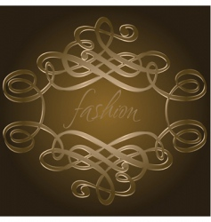 calligraphy curves vector image