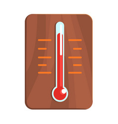 Wall thermometer showing high heat part of vector