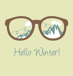 hello winter2 vector image