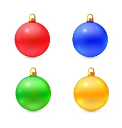 Set of isolated realistic chrismas balls vector