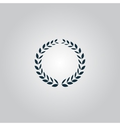 Laurel wreath icon or sign i vector