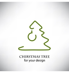 Christmas tree for your design vector