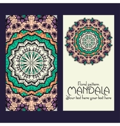 Mandala pattern design template may be used for vector