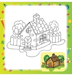 Stylized countryside house vector