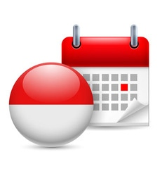 Icon of national day in indonesia vector
