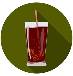 Flat design modern of cold drink icon with long vector