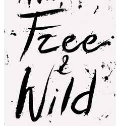 Free and wild vector image
