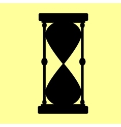 Hourglass sign flat style icon vector