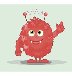 Good red furry monsters vector