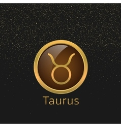 Golden taurus sign vector
