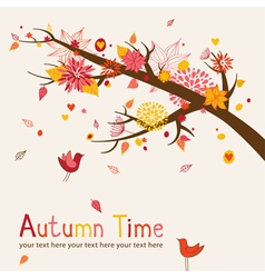 Autumn branch vector image vector image