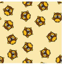 background design owl pattern modern art vector image