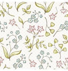 Beautiful seamless pattern with Forget-me not and vector image vector image