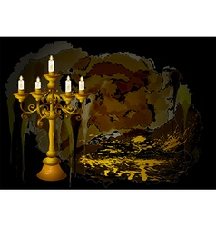 candelabrum and candles vector image vector image