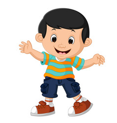 cute boy cartoon vector image