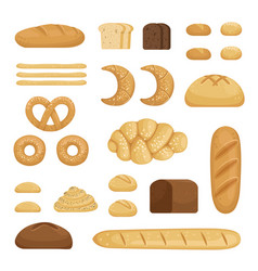different sorts of bread pictures of vector image vector image