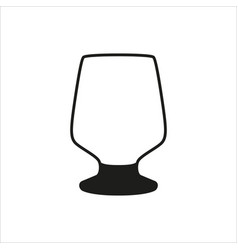 empty wine glass icon monochrome style vector image