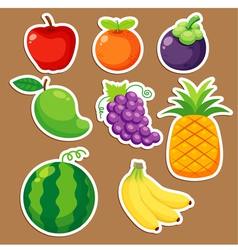 Fruits set vector image vector image