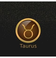 Golden taurus sign vector