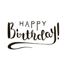 Happy birthday brush lettering vector