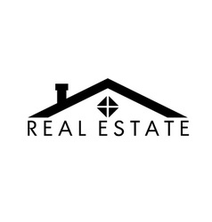 House abstract real estate design template vector image