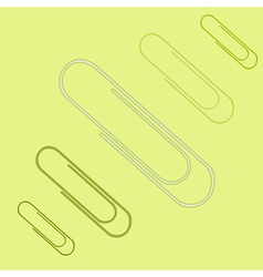 icon set with paper clips vector image vector image