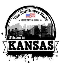 Kansas stamp vector