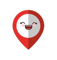 Kawaii localization pin icon vector