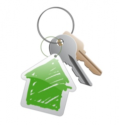 keys with trinket vector image vector image
