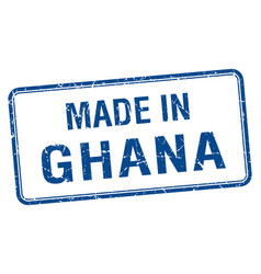 Made in ghana blue square isolated stamp vector