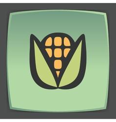 Outline ear of corn icon modern infographic logo vector