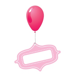 Pink balloon with tag vector